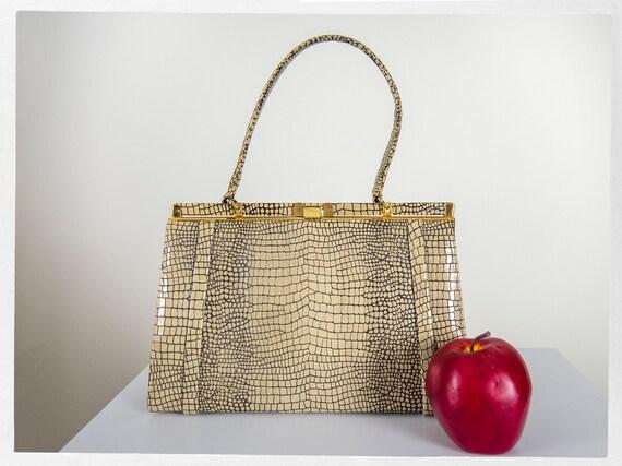 Vintage 60s Purse, 60s  Vintage Handbag, 50s Vinyl