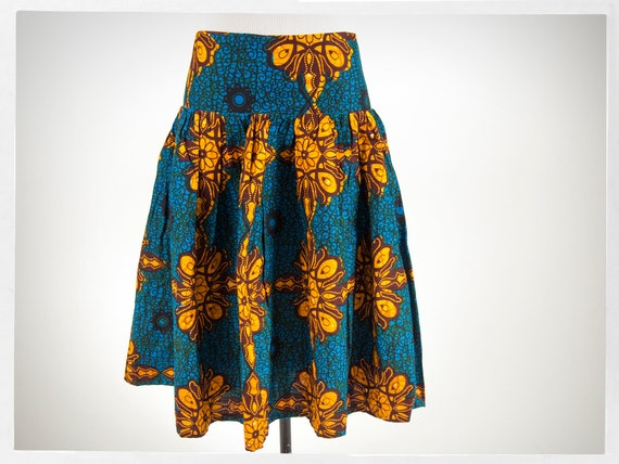 African Print Skirt, African Wax Fabric, Modern Af