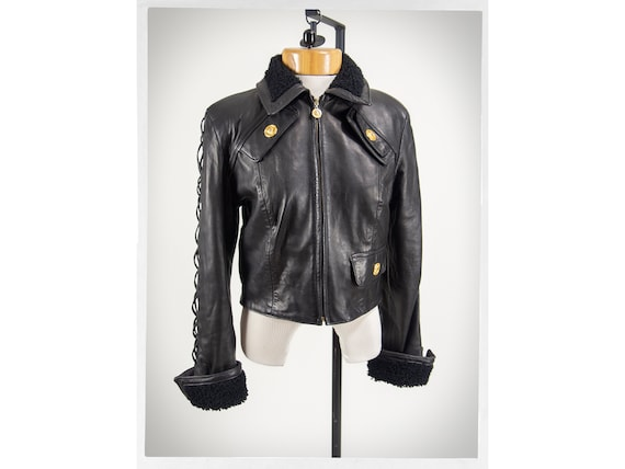 Vintage 90s Jacket, 80s Rocker Jacket, Retro Leath