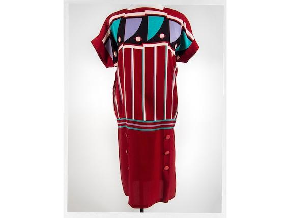 Vintage 80s Dress, Art Deco Style Dress, Retro 80s