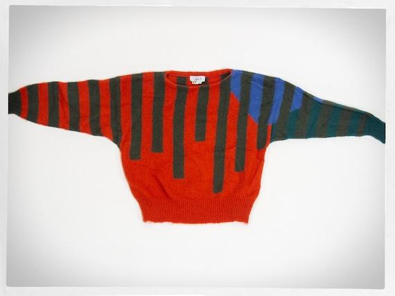 Vintage 70s Sweater, 70s Italian Jumper, Knit Ital