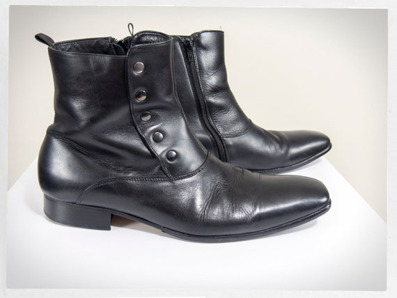 Retro MOD Boots, Mens Victorian Boots, Side Button