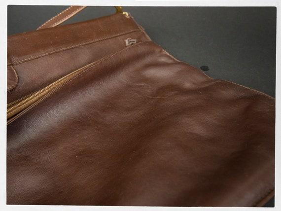 Vintage 80s Satchel, Huge Brown Leather Satchel, … - image 3