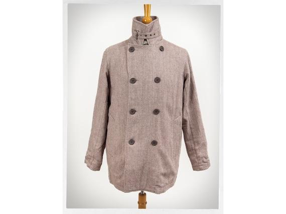 Light Wool Jacket, Retro Chore Jacket, Double Brea