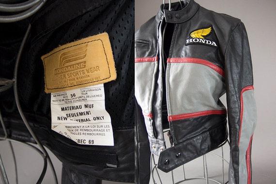 Vintage 80's Motorcycle Jacket, Cafe Racer Motorcy