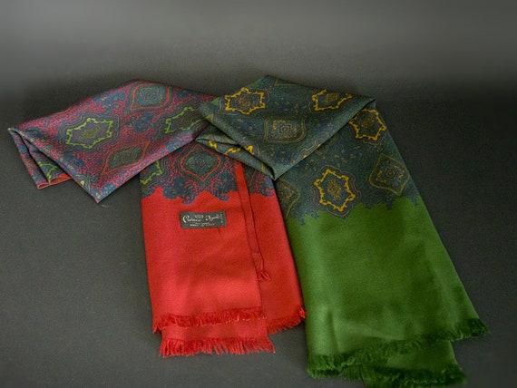 Vintage 60s Gentlemen's Scarves, 70s Wool Scarves
