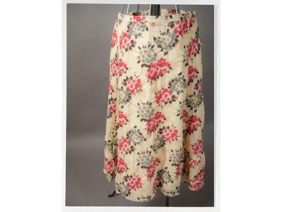Vintage 90s KENZO Floral Skirt, BOHO Style Skirt,