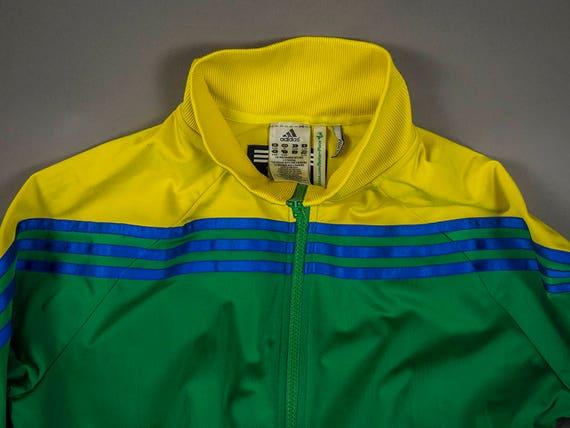 veste Adidas style vintage 70's, veste Adidas 3 Colour Track Jacket vintage 90's, vintage 80's Style Adidas