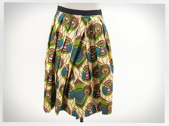 Retro MARNI Skirt, Designer Skirt, African Print S