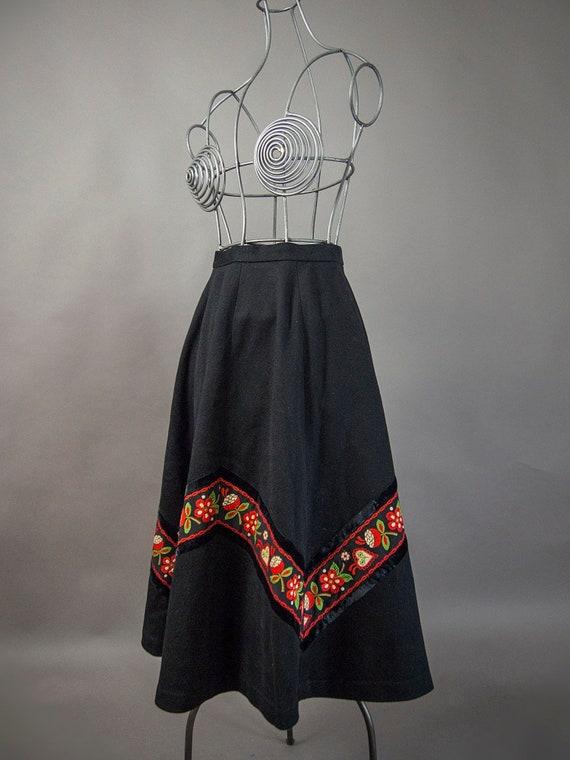 Vintage 60s Skirt, Vintage 60s European Skirt, 60s