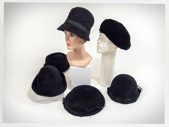 60s Hat Collection, Vintage Hat Collection, 40s Wo