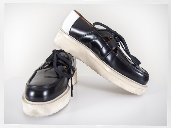 Retro Platform Shoes, Platform Italian Shoes, Japa