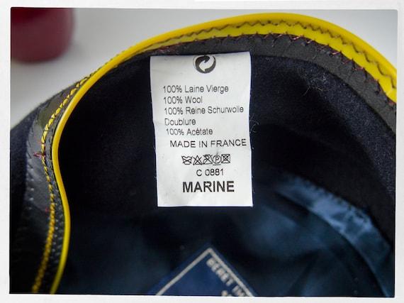 Vintage French Beret, Wool Basque Hat, Large Wool… - image 4