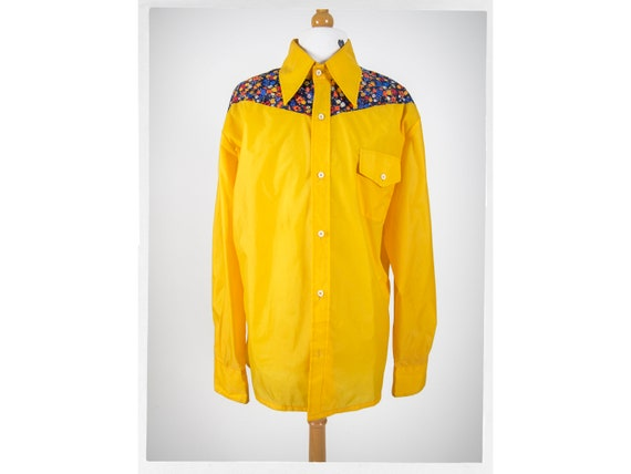 80s Retro Western Shirt, Nylon Western Jacket,  80