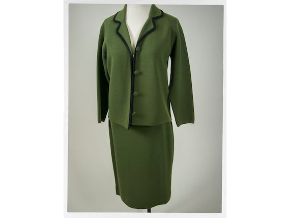 Vintage 50s Knit Suit, Retro 50s Ladies Suit, Vint