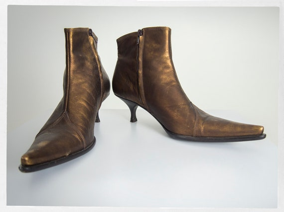 Vintage 90s Bootie, Retro Ankle Boots, Retro 90s K