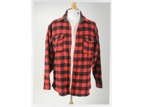 "Vintage 60s Wool Jacket ,""WOOLRICH"" Buffalo Plaid"