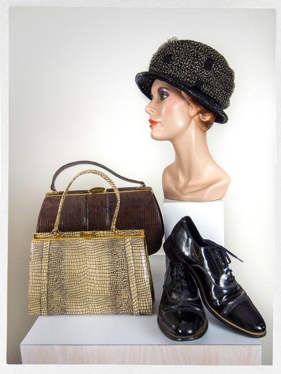 Vintage 60s Purse, 60s  Vintage Handbag, 50s Viny… - image 7