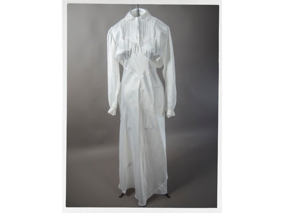 Vintage 40s Lingerie,Vintage 40s White Satin Dress