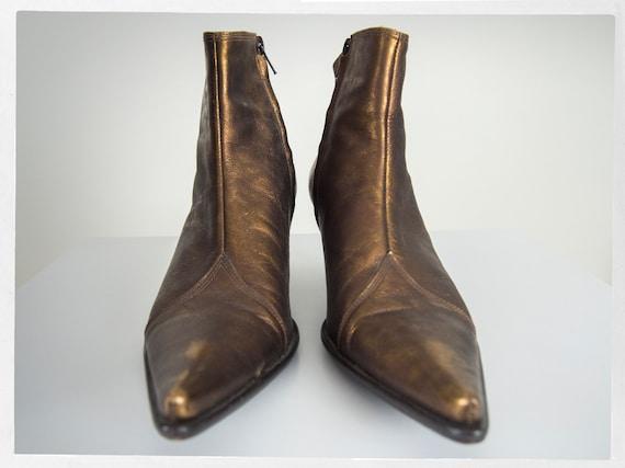 Vintage 90s Bootie, Retro Ankle Boots, Retro 90s … - image 4