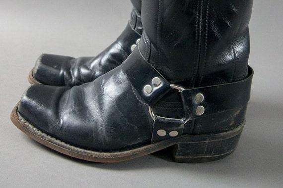 Retro 70s Cowboy Boots, Retro 70s Rockabilly Snoot