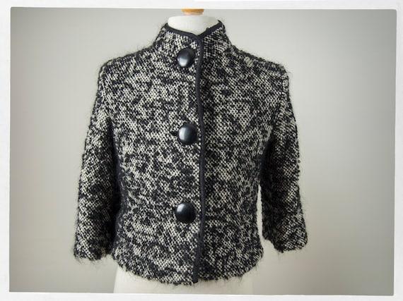 50's Style Jacket, 50s Elegant Jacket Wool Mohair,