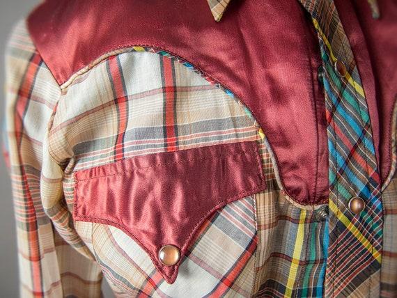Retro 70s Shirt, 70s JOHNNY WEST Shirt, Men's  We… - image 4