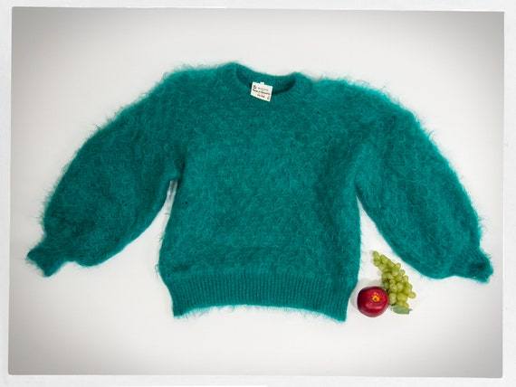 80s Knit Mohair Sweater, Luscious Mohair Sweater,