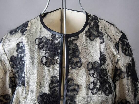 Vintage 50s Silk Jacket, 60s Cocktail Jacket,  Sil