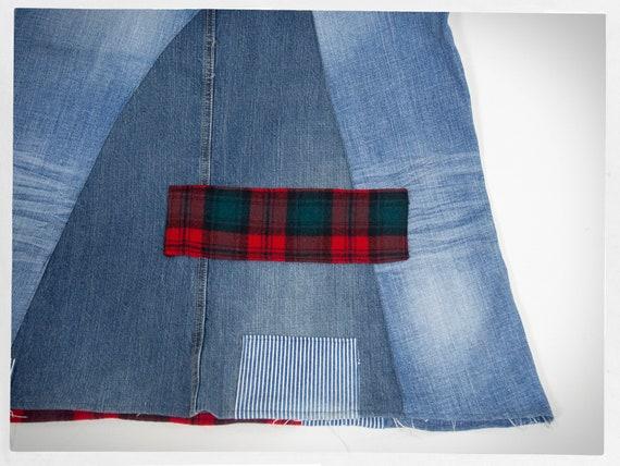 Handmade Patchwork Skirt, Patchwork Denim Skirt, … - image 7