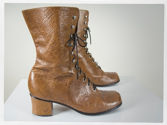 Vintage 70s MOD Boots, Super Sweet Ladies MOD Lace