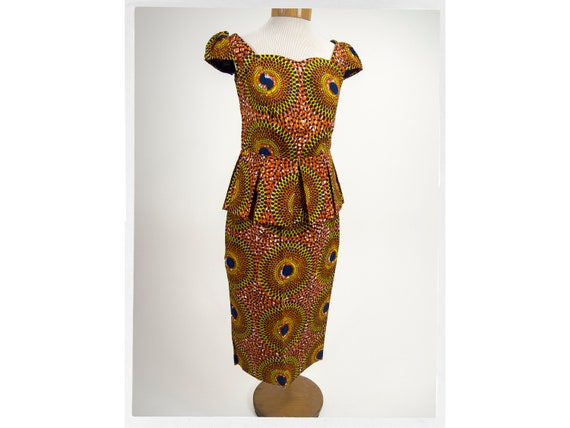 90s Skirt and Top,  Mod African Fashion, African W