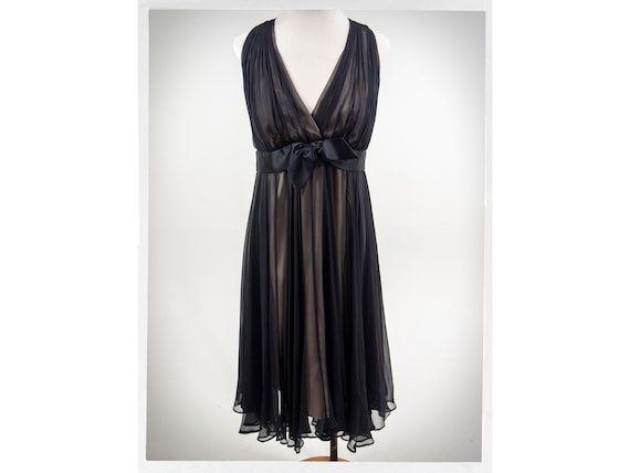 Retro Black Dress, 60s Style Cocktail Dress, MILLY