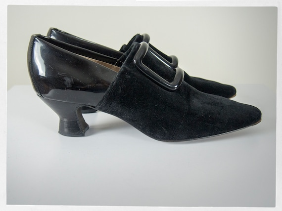 "Vintage 80s Velvet Shoes, Retro 80s  ""PHILIPPE MOD"