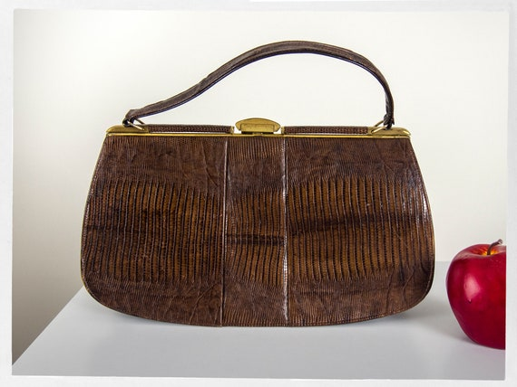 Vintage 50s Purse, 60s Vintage Handbag, 50s Kiss C
