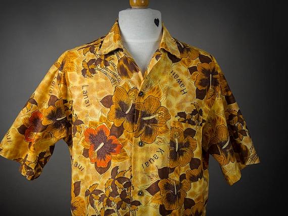 Retro 60s Hawaiian Shirt, 60s  HOOKANO Shirt,  Haw