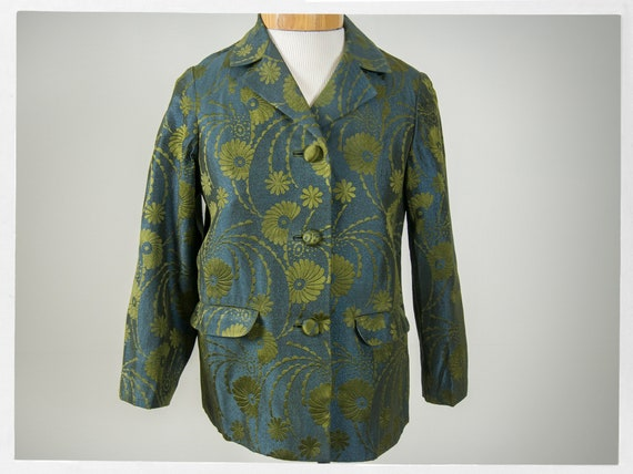 Vintage 70s Jacket, 80s Brocade Jacket, Vintage 70