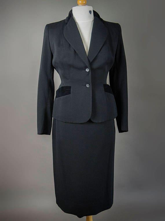 Vintage 40s Suit, Vintage 40s Fitted Suit, Fantas… - image 8