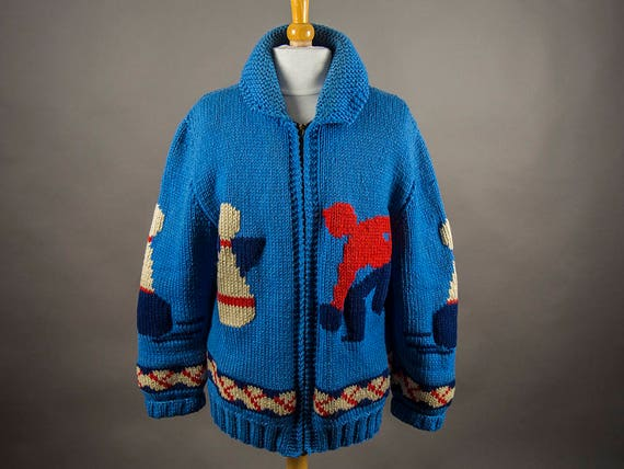 Vintage 60s Sweater, Mary Maxim Men's Handcrafted