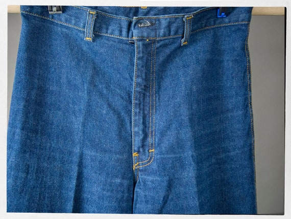 Vintage 70s Blue Jeans, Super Sweet High Rise Den… - image 3