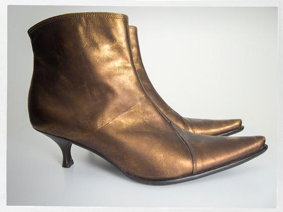 Vintage 90s Bootie, Retro Ankle Boots, Retro 90s … - image 6