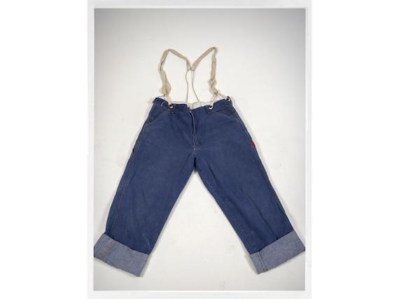 Vintage 60s Jeans, 60s High Rise Jeans, 60s GWG Je