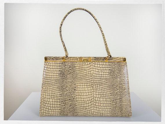 Vintage 60s Purse, 60s  Vintage Handbag, 50s Viny… - image 3