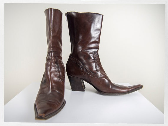 Vintage 90s Cowboy Boots, Modern Western Boots, It