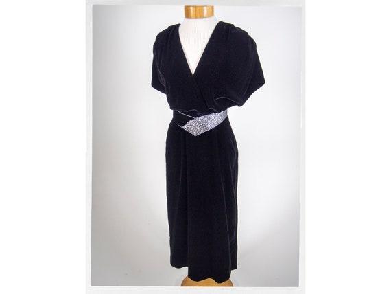 Vintage 80s Dress, 80s Velvet Dress, 80s , 80s Dis