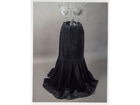 """Vintage 80s Velvet Skirt, """"Holt Renfrew"""" Skirt, Ve"""
