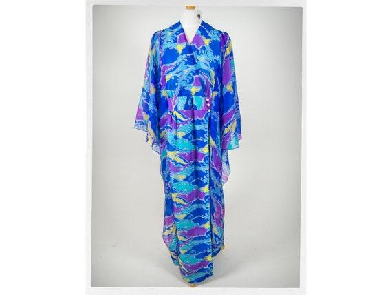 Vintage 70s Dress, 70s MOO MOO Dress, 70s Dressing