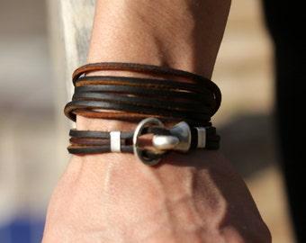 Boho leather wrap bracelet, womens leather bracelet , fashion jewelry, gift for her, girlfriend gift, leather art,mothers day gift, keepsake