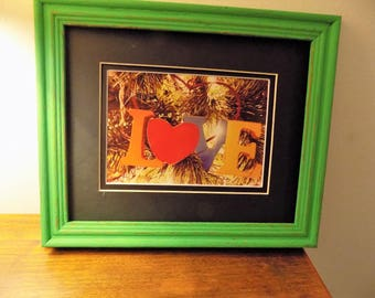 8x10 green framed holiday photo
