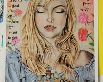 Drink Me - Alice In Wonderland A4 Print